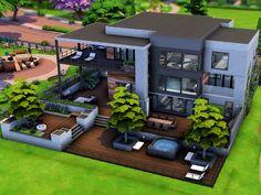 Sims 4 House Plans, Sims 4 House Building, Sims 4 Loft, Sims 4 Bedroom, Sims 4 House Design, Casas The Sims 4, Sims 4 Build, Sims 4 Houses, Modern Backyard