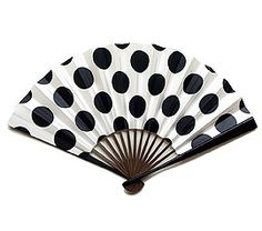 It's a fan. And it's polka-dot. If you know me, you'll get this...