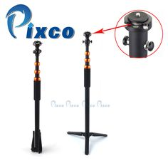 Pixco professional unipod retractable Monopod Leg Tripod Head With Quick Release Plate orange Photography Accessories, Tripod, Outdoor Power Equipment, Plates, Orange, Watch, Shopping, Accessories, Licence Plates