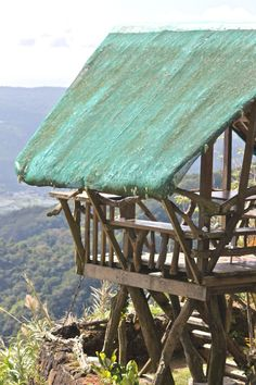 Nipa Hut overlooking the Taal Volcano in Tagaytay, Philippines