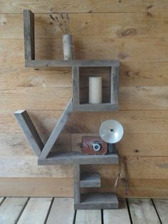 I LOVE this shelf made of 2x4s. . Shelf is from The Old Mason Jar