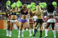 Cheerleaders perform during the Pro Bowl at University of Phoenix Stadium in Glendale, Arizona on January 24, 2015. Photo by Kevin Dietsch/UPI