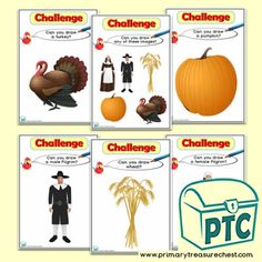 Thanksgiving Teaching Resources, Primary, Elementary schools - Primary Treasure Chest Teaching Activities, Teaching Art, Teaching Resources, Teaching Ideas, Drawing Challenge, Art Challenge, Continuous Provision, Drawing Programs, Ourselves Topic