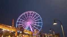 Turning the Skywheel pink for the night