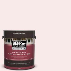 BEHR Premium Plus Ultra 1-gal. #190E-1 Light Rosebeige Flat Exterior Paint