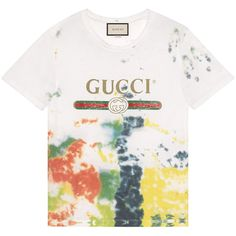 Gucci Cotton Tie-Dye T-Shirt With Gucci Print (1.649.670 COP) ❤ liked on Polyvore featuring plus size women's fashion, plus size clothing, plus size tops, plus size t-shirts, multicolor, tie dye shirt, gucci shirt, cotton t shirts, t shirts and gucci t shirt