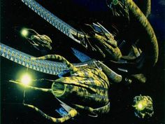 Vorlon cruiser. The Vorlons are one of the oldest races in the Babylon 5 series, and the Vorlon cruiser is one of the most powerful ships.