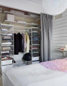 Grey Curtain To Hide Wardrobe