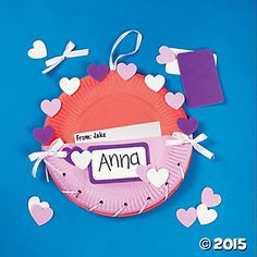 Easy valentine Paper Plate Crafts | Paper Plate Valentine Holder Craft Kit
