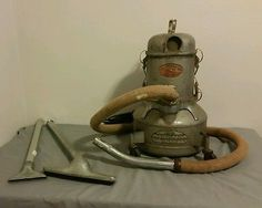 1965 kirby dual sanitronic 50 vacuum cleaner w attachments rex air model c canister vacuum w hose vintage works