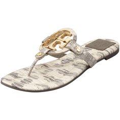 e57620f4efeb5e Tory Burch Miller2 Snake-Print Thong Sandal