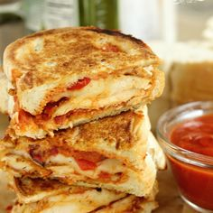 Chicken Parmesan Panini Recipe Main Dishes, Lunch with boneless chicken breast, creole seasoning, eggs, panko, shredded parmesan cheese, olive oil, marinara sauce, provolone cheese, Italian bread, roasted red peppers