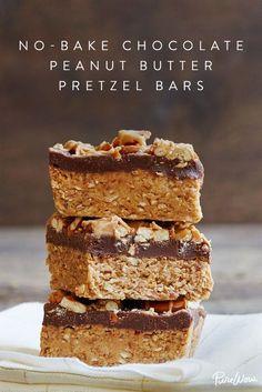 No-Bake Chocolate Peanut-Butter Pretzel Bars.