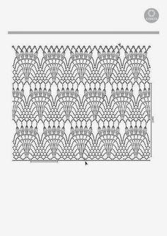 CARAMELO DE CROCHET: Falda gris de abanicos