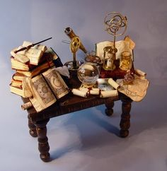 magicians table from a doll house