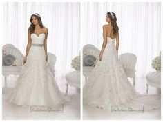 Gorgeous Vintage Sweetheart A-line Lace Over Wedding Dresses