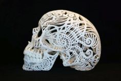 3D Printed Skull Sculpture