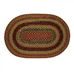 Homespice Decor Cotton Braided Four in Nine Patch Oval Rug - Four in Nine Patch