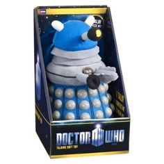 Blue Dalek Talking Soft Toy