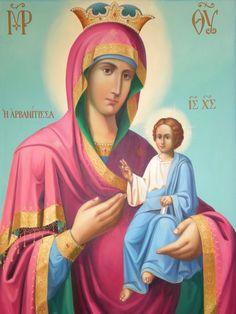 Panagia i Arvanitissa Religious Paintings, Jesus Resurrection, Byzantine Icons, Virgin Mary, Orthodox Icons, Our Lady, Holi, Religion, Aurora Sleeping Beauty