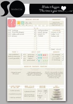 Daily Printable PlannerDaily planner To do by BorbolloPlanners