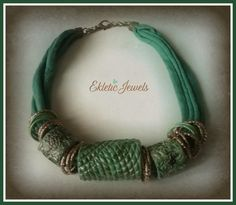 Tubes necklace greenery