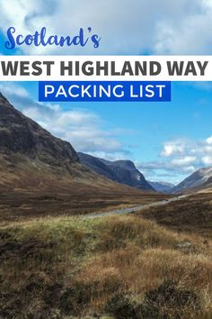 The West Highland Way is a 96 mile trek in Scotland. This essential West Highland Way packing list covers everything you need for hiking in Scotland Scotland Hiking, Scotland Travel Guide, Scotland Vacation, Scotland Tours, Scotland Trip, Hiking Gear, Hiking Trails, Hiking Guide, Backpacking Gear