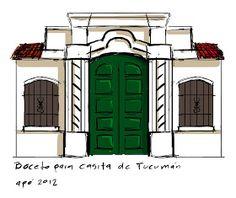 el taller del tío apó: Casita de Tucumán Ideas Para, Colonial, Abs, Artist, Anime, Gardens, Mariana, Paper, House Drawing