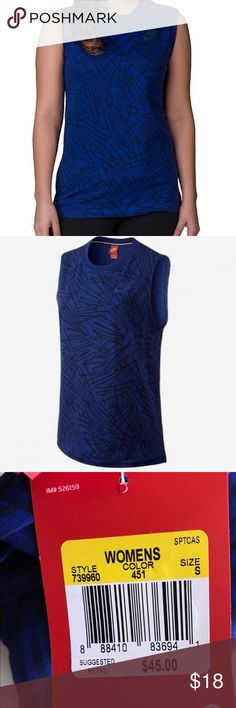 Nike women's small muscle tank small retail $45 This is from nike's street wear collection.  It's got a stylish print and is great for lounging, working out, or making a fashion statement... super soft retails for $45 Nike Tops Muscle Tees
