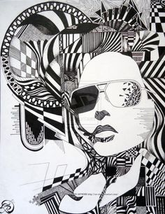 Under Her Shades: Illustration by Evan Rosato. More interesting images here!