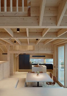 Swedish architects Widjedal Racki complete Villa Moelven, a new house on the Sto. - Ashley Home Scandinavian Interior Design, Contemporary Interior Design, Interior Design Kitchen, Swedish Design, Modern Interior, Wood Architecture, Residential Architecture, Architecture Wallpaper, Drawing Architecture