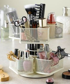 Nifty Home Products Cream Makeup Carousel | zulily