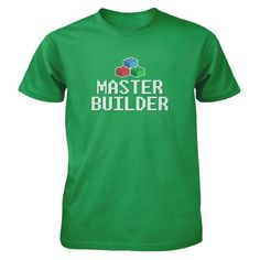 I've already managed to become a master builder! All of our incredibly soft unisex youth shirts are made of 100% combed cotton. The sport grey t-shirt is made of 90% combed cotton and 10% polyester. Every t-shirt is custom made within 2-3 business days of completed payment.
