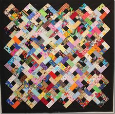 Finished February 2017 - Girls' Art Quilt Finished February 2017 - An Irish Sunbonnet Finished December 17 - April's Rainb. Scrappy Quilt Patterns, Quilt Square Patterns, Jellyroll Quilts, Scrappy Quilts, Patchwork Quilting, Block Patterns, Granny Square Quilt, Crumb Quilt, I Spy Quilt