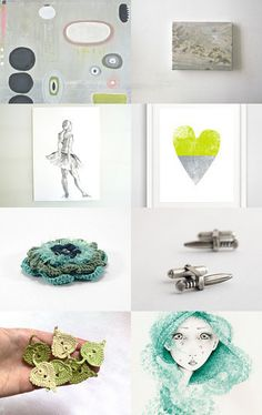 100 - Green, Grey and Beige by Ilona on Etsy--Pinned+with+TreasuryPin.com