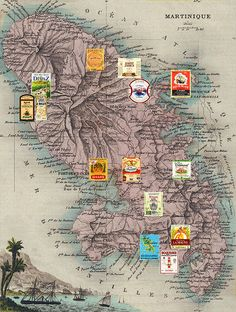 Martinique - Carte des Rhums