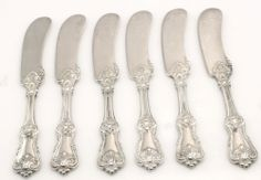 FEDERAL COTILLION-F.SMITH STERLING HH BUTTER SPREADER S