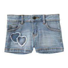 Toddler Girls' Patch Denim Short from Joe Fresh.  Only $9.94.