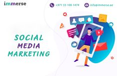 Find Dubai social media company to grow your brand and generate more leads. Immerse Digital Solutions take your business to the next level by providing top-class services at a competitive price. Social Media Marketing Companies, Social Media Company, Social Media Services, Companies In Dubai, Top Social Media, Social Media Trends, Social Media Channels, Like Facebook, Promote Your Business