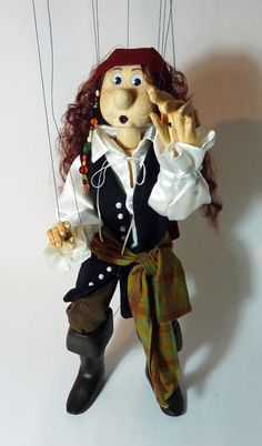 Pirate of the Carribean Wooden Marionette