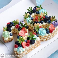 Gente olha como ficou lindo esse Number Cake 💙 por @katerina_minakova #tatylovecakes 💙💙💙💙 @Regran_ed from @katerina_minakova_ - У торта…