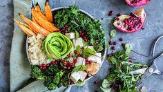 Kyllingsalat med søtpotet Frisk, Avocado Toast, Quinoa, Salads, Breakfast, Food, Breakfast Cafe, Essen, Salad