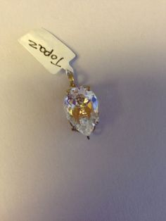 White Topaz Pear Shaped Pendant by Texanstyle on Etsy, $72.00