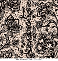 Abstract seamless lace pattern with flowers and butterflies. Infinitely wallpaper, decoration for your design, lingerie and jewelry. Your in...