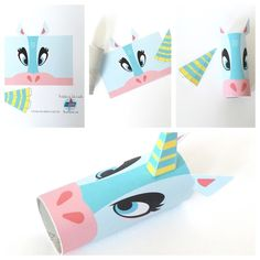How to make a paper roll model. Unicorn Head Toilet Tube Craft Printable - Step 1
