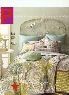 Great antique iron bed used in a Macy's ad campaign