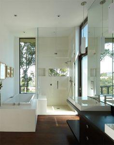 Modern sarok-zuhanyzó