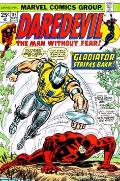 Blade stunner! Matt Murdock's business takes Daredevil to the swamps of Florida – and the villainous, murderous Gladiator follows!