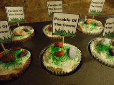 Parable of the sower cupcakes for Sunday school