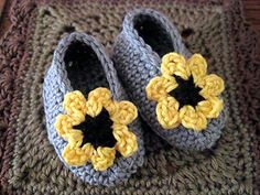 Cheery Cotton Baby Shoes (Pattern in the 2014 crocheted calendar, which I have)